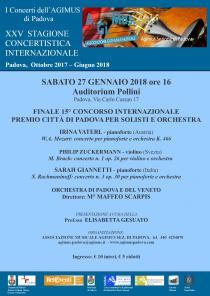 15° Concorso città di Padova per solisti e orchestra. Concerto dei finalisti