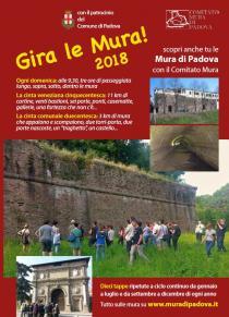 Gira le mura! Giro a tappe delle mura padovane 2018-Programma di giugno-luglio-settembre