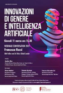 Innovazioni di genere e Intelligenza Artificiale. Webinar a cura del Centro di Ateneo Elena Cornaro