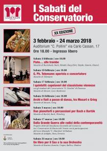 I Sabati del Conservatorio 2018. XX edizione