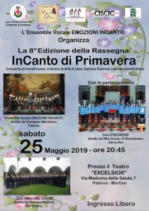 Locandina concerto InCanto di primavera 2019