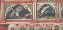 particolare degli affreschi di Palazzo della Ragione