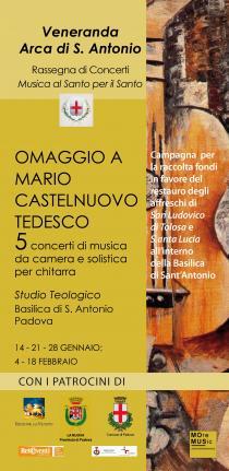 Omaggio a Mario Castelnuovo Tedesco. 5 concerti di musica da camera e solistica per chitarra-immagine