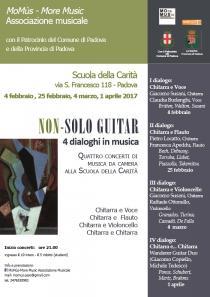 NON-SOLO GUITAR. 4 dialoghi in musica. Quattro Concerti di Musica da Camera alla Scuola della Carità