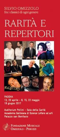 Rarità e Repertori. Ciclo di concerti della Fondazione Musicale Omizzolo-Peruzzi 2017