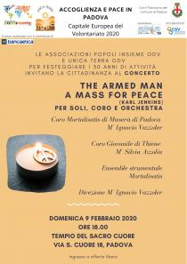 Locandina concerto The armed man a mass for Peace