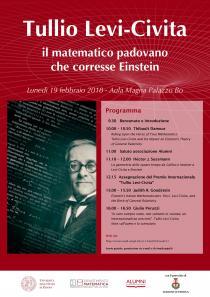 Tullio Levi-Civita, il matematico padovano che corresse Einstein-Convegno