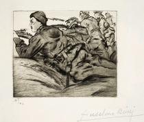 incisione raffigurante un soldato