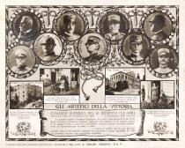 cartolina commemorativa della vittoria
