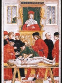 La dissezione, in Johannes de Ketham, Fasciculus medicinae [in italiano], Venezia, Giovanni e Gregorio de' Gregori, 1493