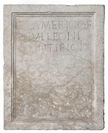 Stele funeraria di Quinto Camerio Culleone, I secolo d.C. (Padova, Musei Civici, Museo Archeologico inv. 256)