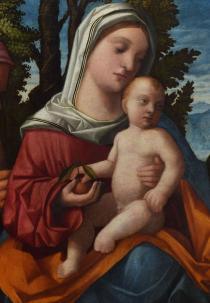 Francesco Rizzo, Madonna e Santi, particolare