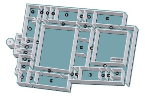 Le mappe del Complesso Eremitani